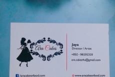 Ara Cakes Retailer Tailor Made Cakes Name Card