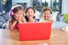 Buddyphones kids are enjoying with headphones