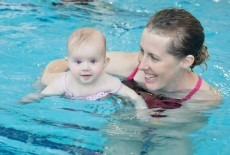 Harry Wright International infant aquatic swim class with baby and mother South China Athletic Association Causeway Bay