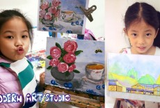 Modern Art Studio Learning Centre Kids Painting Class Tai Wai