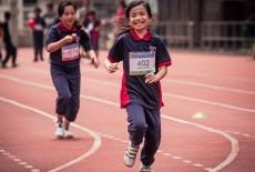 Rosebud Primary School students running