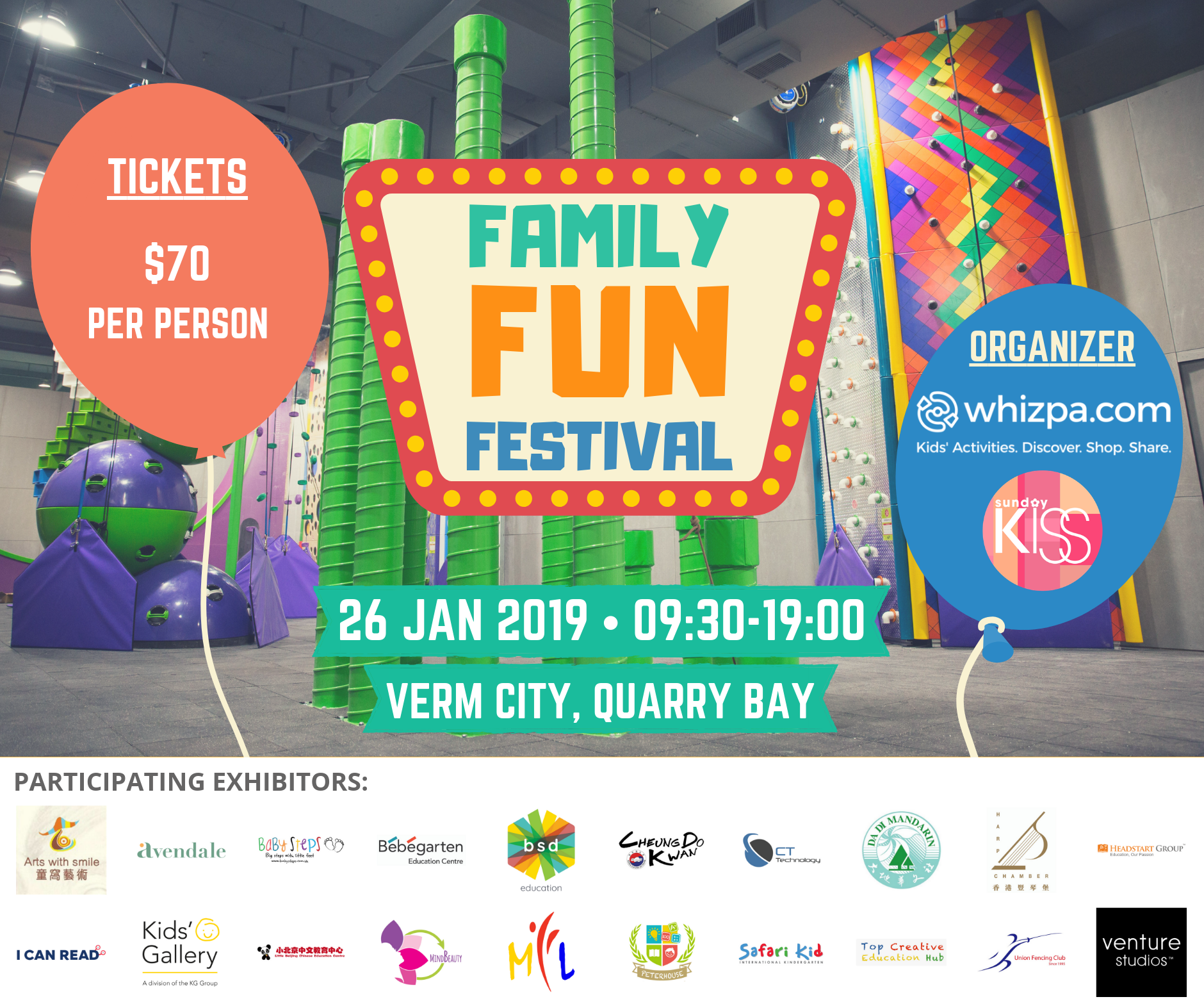 early bird tickets for family fun festival 26 jan whizpa. Black Bedroom Furniture Sets. Home Design Ideas
